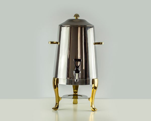 Coffee Tea Dispenser with Gold Accents 55 Cups