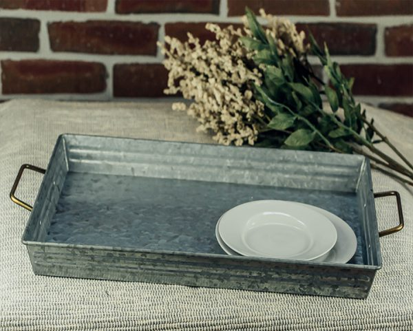 Galvanized Rectangle Tray