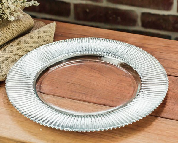 Silver Rim Charger