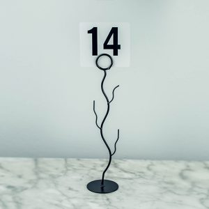 Table Number Stand Black