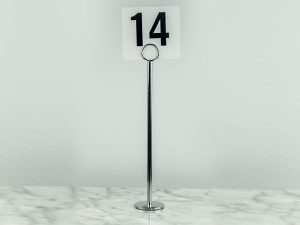 Table Number Stand Tall 12