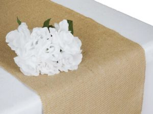 Natural Rustic Burlap Table Runner