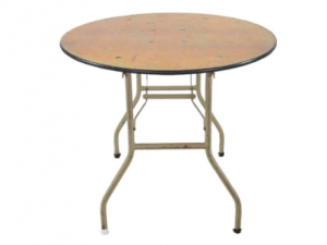 Round Table 36″ Wide on 4 Legs
