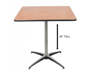 Square Table 36″x 36″ Wide