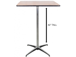 Square Table 36″x36″ x 42″ High