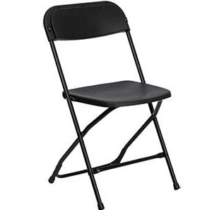 Black Folding Chair With Metal Frame