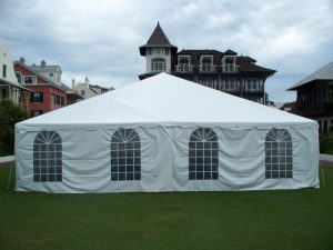White Tent Wall w/cathedral window – 1$ per foot