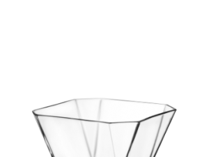 Octagonal Glass Serving Bowl