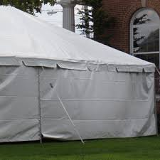 White Tent Side Wall-Solid – 1$ per Foot