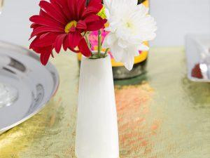 4″ White Porcelain Bud Vase