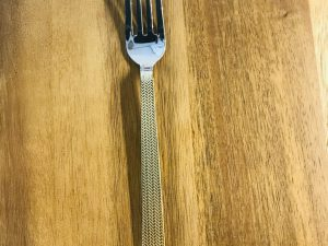 Dinner Fork w/Gold Handle