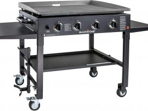 Flat Top Gas Grill-Griddle Station-4-bur, 36″ – 4 Burner